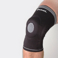 Knitted Dynamic Knee Compression Sleeve by Cho-Pat.