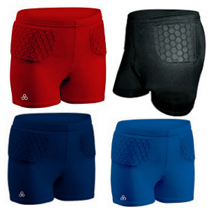 These padded volleyball shorts help reduce hip pointers.